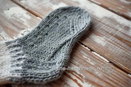 Детские носки спицами с анатомической стопой