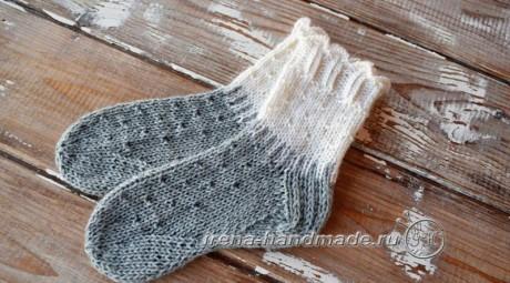 Детские носки спицами с анатомической стопой. Вязание спицами.