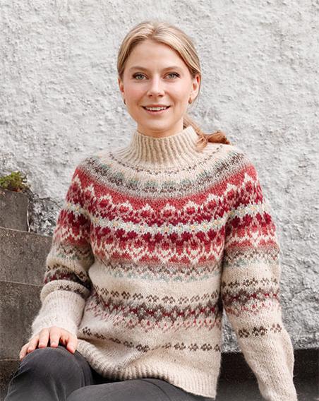 Красивый свитер с круглой кокеткой