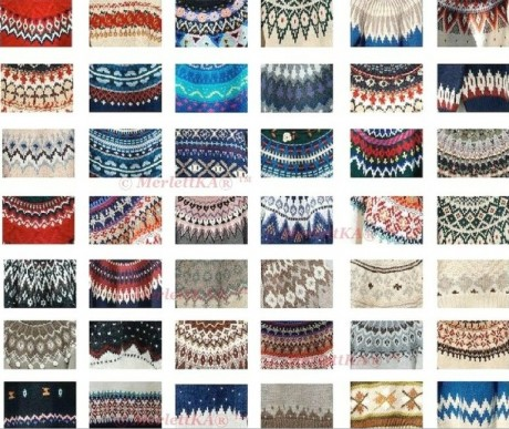 Примеры сочетания цветов для вязания лопапейса