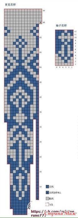 Жаккардовые лопапейсы, схемы вязания