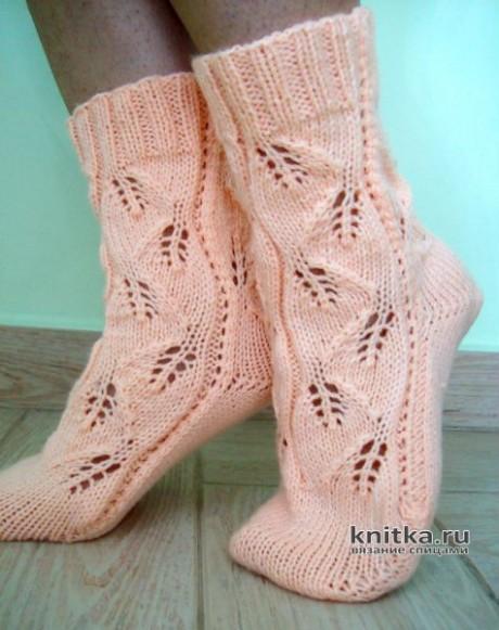 Винтажные носки ПЕПЕЛ РОЗЫ, связанные на двух спицах вязание и схемы вязания