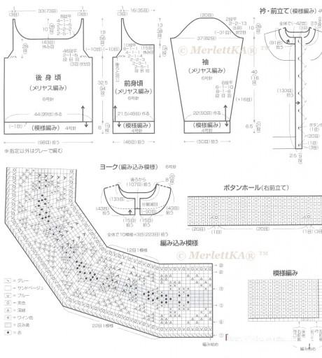 Схемы вязания изделий в стиле лопапейса спицами