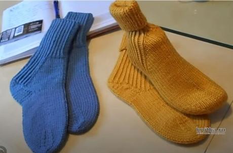 Носки КРОКУСЫ с красивой и удобной пяткой, видео-урок вязание и схемы вязания