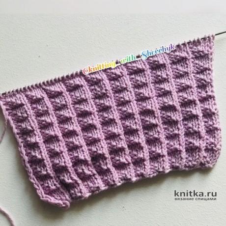Рельефный узор спицами для свитеров, кардиганов. Описание и видео-урок. Вязание спицами.