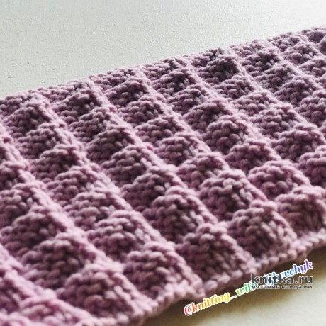 Рельефный узор спицами для свитеров, кардиганов. Описание и видео-урок вязание и схемы вязания