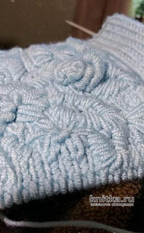 Шапка женская с вышивкой. Работа Натальи Круминьш Романович вязание и схемы вязания