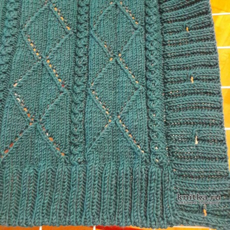 Женский жилет спицами из пряжи Lana Lux от Himalaya. Работа Светланы Гола вязание и схемы вязания