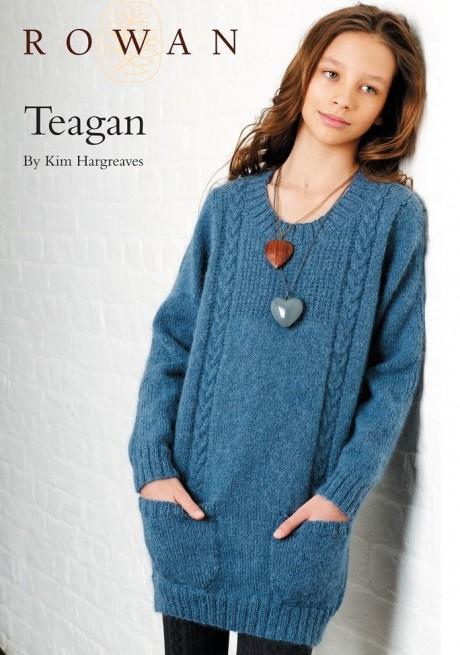 ЭФФЕКТНЫЙ свитер туника спицами для девочки. Вязание спицами.