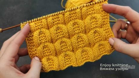 ШИКАРНЫЙ Рельефный Узор Спицами ПОДКОВА вязание и схемы вязания