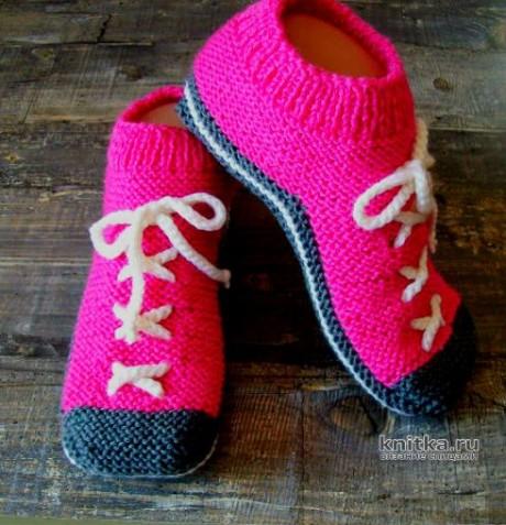 Вязаные носки БУТCЫ спицами вязание и схемы вязания