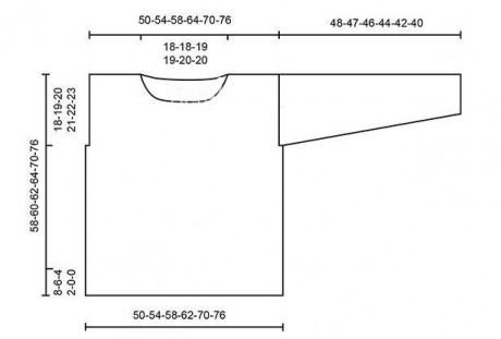 Схема вязания джемпера и выкройка
