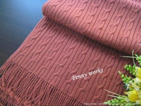 Мужской шарф спицами 2
