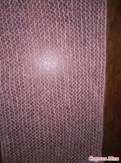 Женский шарф из кид-мохера спицами 2