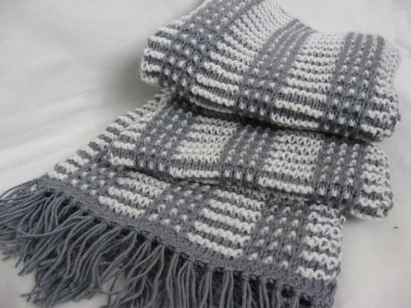 Красивый мужской шарф спицами. Вязание спицами.