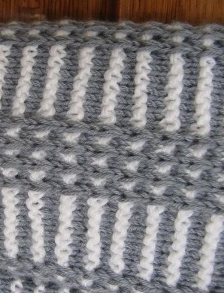 Красивый мужской шарф спицами 1