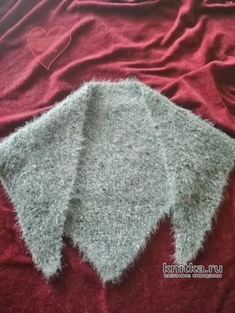 Как связать модную косынку спицами за один выходной. Работа Светланы вязание и схемы вязания
