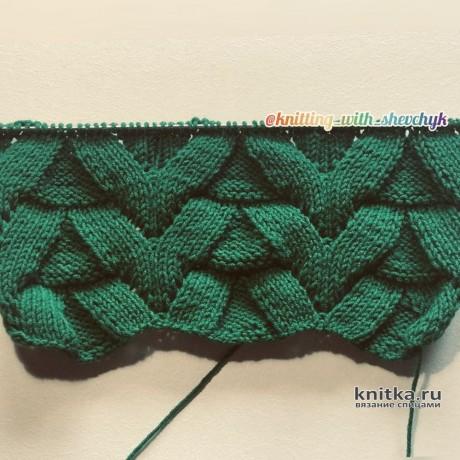 Красивый и очень простой узор спицами. Описание и видео-урок вязание и схемы вязания