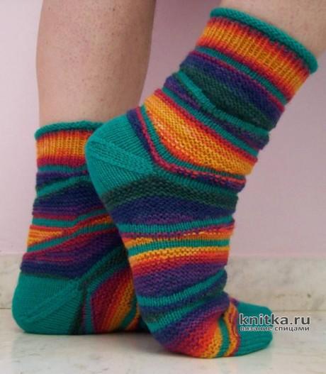 Носки спицами ТВИСТ. Техника укороченных рядов вязание и схемы вязания