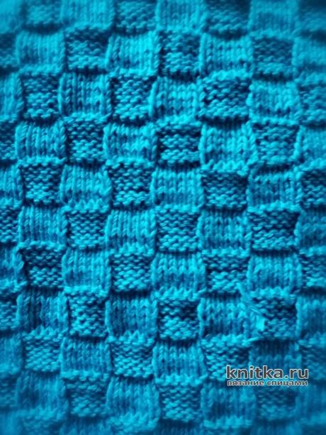 Вяжем полотенце премиум-класса спицами из бамбука. Работа Светланы вязание и схемы вязания