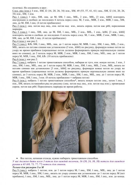 Схема вязания и описание платья