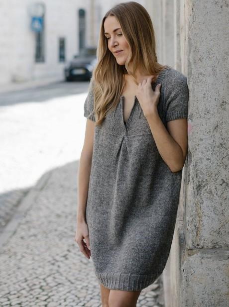Платье спицами LOTTA от MARIE GREENE. Вязание спицами.