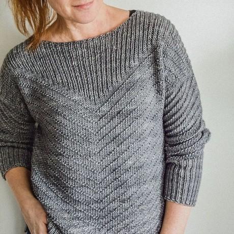 Оригинальный узор для пуловера спицами 0