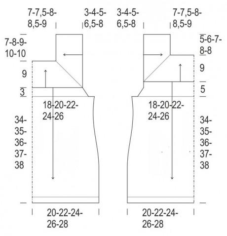 Топ спицами на квадратной кокетке 2
