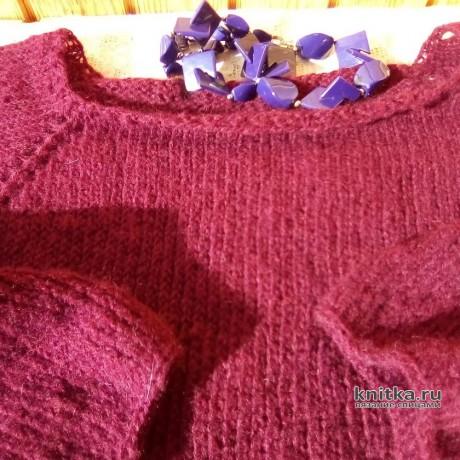Джемпер из мохера спицами. Работа Самовязки вязание и схемы вязания