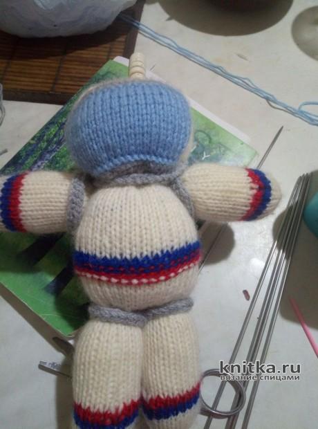 Космонавт. Игрушка, вязаная спицами. Работа Светланы Куртаковой вязание и схемы вязания