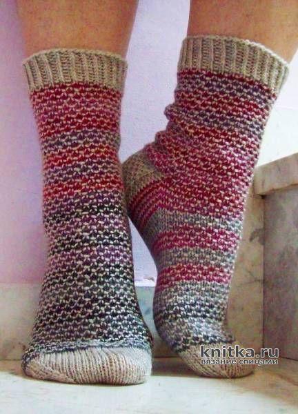 Носки спицами ЧЕШУЙКИ, видео-урок вязание и схемы вязания