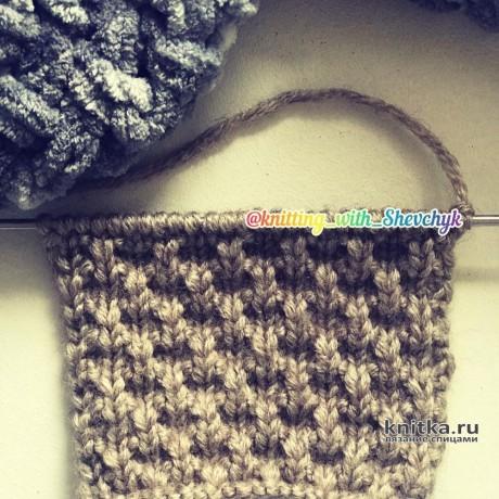 Плотный, рельефный, простой и красивый узор спицами. Вязание спицами.