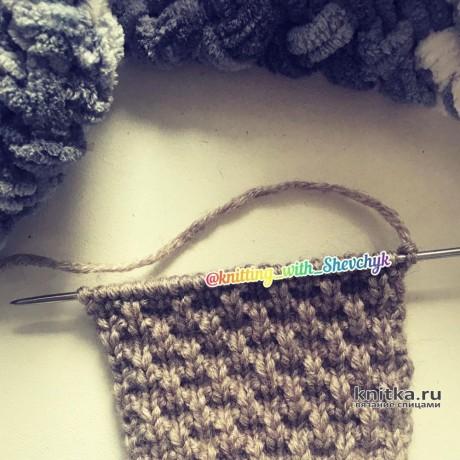 Плотный, рельефный, простой и красивый узор спицами вязание и схемы вязания