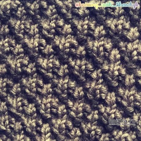Рельефный узор спицами, видео-урок вязание и схемы вязания
