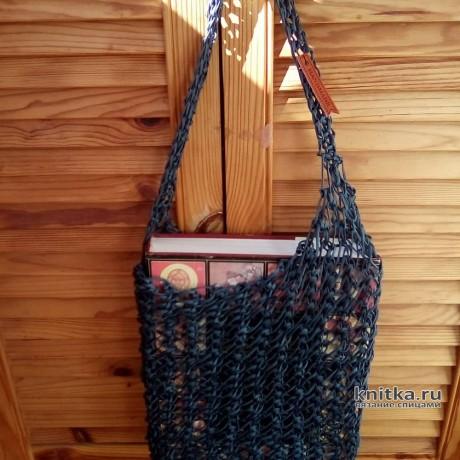 Вязанная сумка авоська спицами. Автор работы Самовязка. Вязание спицами.