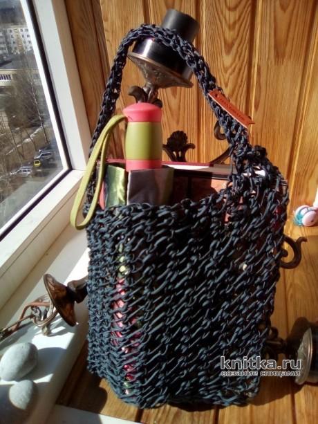Вязанная сумка авоська спицами. Автор работы Самовязка вязание и схемы вязания