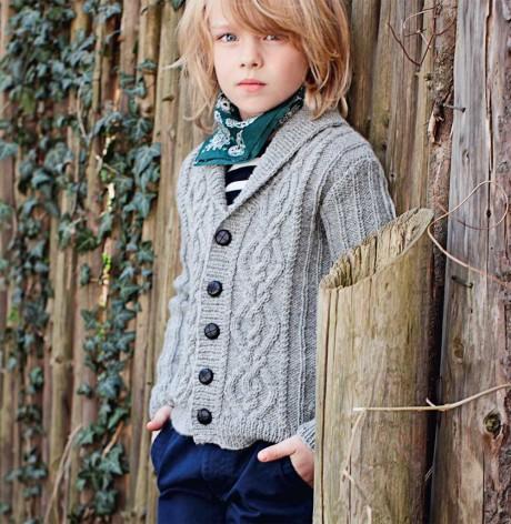 Кофта для мальчика с косами
