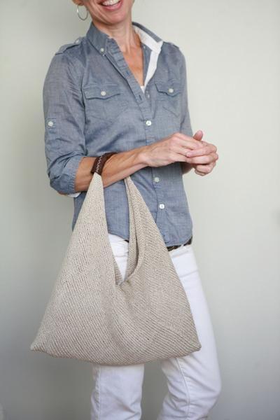 Летняя сумки спицами 1