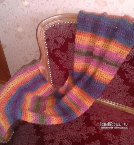 Палантин спицами. Работа Ладной Натальи вязание и схемы вязания