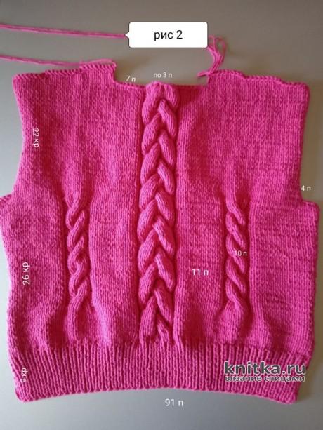 Вязанная кофточка для девочки спицами. Работа Маргариты Шопхоловой вязание и схемы вязания