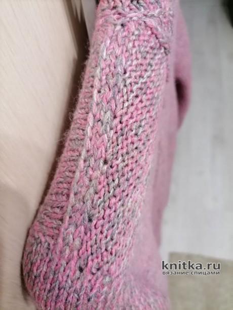 Женский джемпер спицами с красивой спинкой. Работа Татьяны Ивановны вязание и схемы вязания