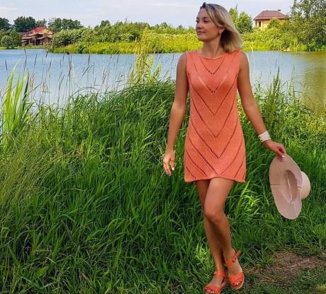 Платье туника спицами для женщин. Вязание спицами.
