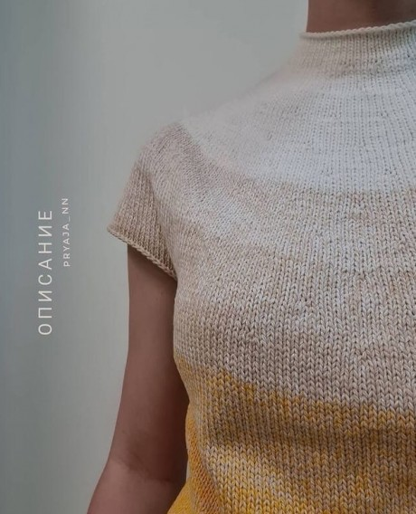 Летняя кофточка/футболка спицами