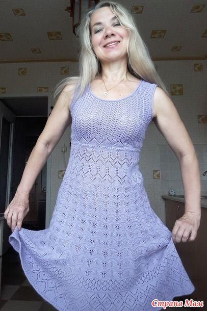Летний сарафан спицами для женщин 4