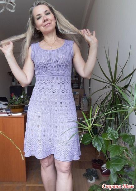 Летний сарафан спицами для женщин 6