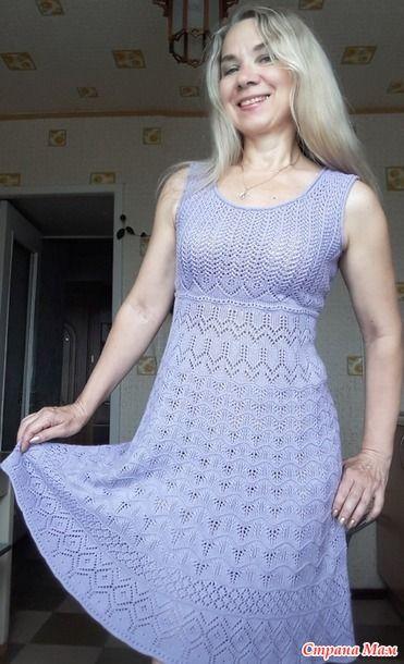 Летний сарафан спицами для женщин 7