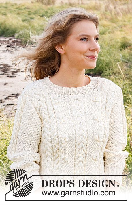 Женский свитер спицами BRIGHT SAND SHORE