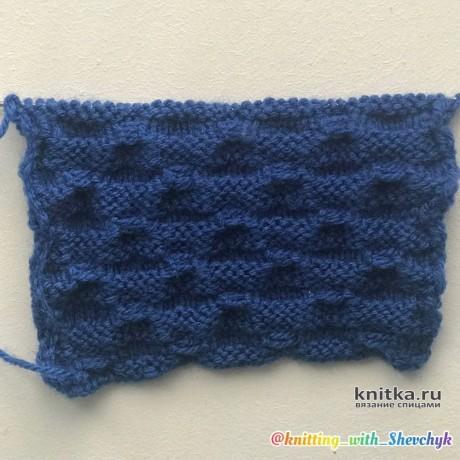 Объемный, простой узор спицами для вязания пледов вязание и схемы вязания