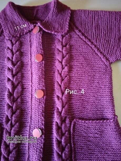 Женское пальто спицами. Работа Маргариты Шопхоловой вязание и схемы вязания