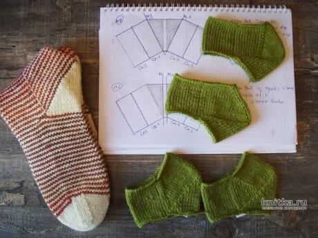 4 способа прибавления петель для пятки СТРОНГ при вязании спицами вязание и схемы вязания